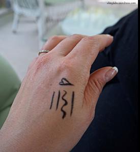 KVD Tattoo Liner Swatch