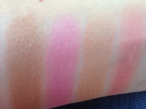 Too Faced Soul Mates Blushing Bronzers Swatches