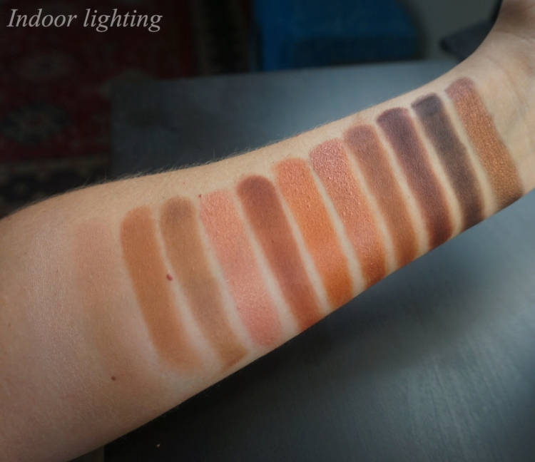 Urban Decay Naked Heat Palette Swatches
